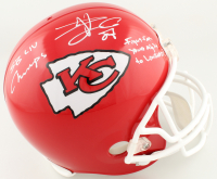"Travis Kelce Signed Chiefs Full-Size Helmet Inscribed ""SB LIV Champs, Fight For Your Right To Lombardi"" (Beckett COA) at PristineAuction.com"