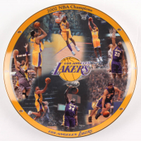 2002 Kobe Bryant & Shaquille O'Neal LE Lakers Porcelain Plate at PristineAuction.com