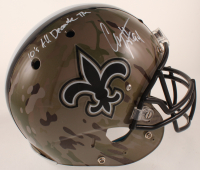 """Cameron Jordan Signed Full-Size Authentic On-Field Hydro-Dipped Helmet Inscribed """"10's All Decade TM"""" (JSA COA) at PristineAuction.com"""