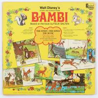 "Vintage 1969 Walt Disney's ""Bambi"" Vinyl LP Record Album at PristineAuction.com"