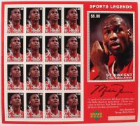 1996 Michael Jordan Sheet of (16) Uncut St. Vincent & The Grenadines Sports Legends Stamps at PristineAuction.com