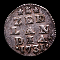 1731 Dutch Republic, Zeeland - 2 Stuiver Colonial Silver Coin at PristineAuction.com
