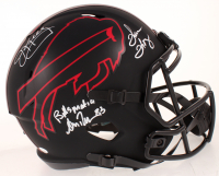 "Thurman Thomas, Andre Reed & Jim Kelly Signed Bills Eclipse Alternate Speed Full-Size Helmet Inscribed ""Bills Mafia"" (JSA COA) at PristineAuction.com"