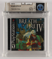 """2000 """"Breath of Fire IV"""" Sony Playstation Video Game (WATA 8.0) at PristineAuction.com"""