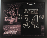Bo Jackson Signed 35.5x43.5 Custom Framed Jersey Display (JSA COA) at PristineAuction.com