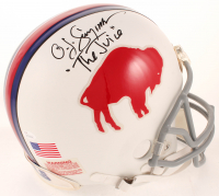 "O. J. Simpson Signed Bills Throwback Full Size Authentic On-Field Helmet Inscribed ""The Juice"" (JSA COA) at PristineAuction.com"