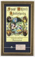"Disneyland Fantasyland's ""Snow White's Adventures"" 15.5x25.5 Custom Framed Print Display with Vintage Disneyland Pin & 1960's Ride Ticket at PristineAuction.com"
