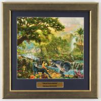"Thomas Kinkade Walt Disney's ""The Jungle Book"" 16.5x16.5 Custom Framed Print Display at PristineAuction.com"