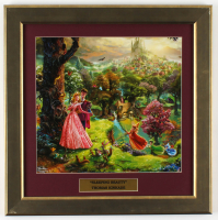 "Thomas Kinkade Walt Disney's ""Sleeping Beauty"" 16.5x16.5 Custom Framed Print Display at PristineAuction.com"