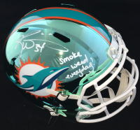 """Ricky Williams Signed Dolphins Full-Size Chrome Speed Helmet Inscribed """"Smoke Weed Everyday!"""" (JSA COA) at PristineAuction.com"""