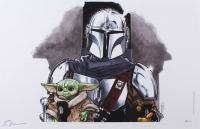 "Tom Hodges - The Mandalorian & The Child - Signed 11"" x 17"" Lithograph LE #/25 (PA COA) at PristineAuction.com"