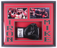 Mike Tyson Signed 21.5x25.5x2 Custom Framed Boxing Glove Shadowbox Display (Fiterman Sports Hologram) at PristineAuction.com