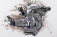"Tom Hodges - War Machine - ""Iron Man"" - Marvel Comics - Signed ORIGINAL 11"" x 17"" Drawing on Paper (1/1) at PristineAuction.com"