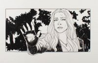 "Tom Hodges - Scarlet Witch - Marvel Comics - Signed ORIGINAL 11"" x 17"" Drawing on Paper (1/1) at PristineAuction.com"