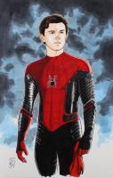 "Tom Hodges - Spider-Man - Peter Parker - Marvel Comics - Signed ORIGINAL 11"" x 17"" Drawing on Paper (1/1) at PristineAuction.com"