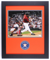 Milo Hamilton Signed Astros 19x23 Custom Framed Photo Display With Extensive Inscription (JSA COA) at PristineAuction.com
