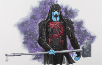 "Tom Hodges - Ronan the Accuser - Marvel Comics - Signed ORIGINAL 11"" x 17"" Drawing on Paper (1/1) at PristineAuction.com"