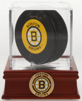Cam Neely Signed Bruins Logo Hockey Puck with High Quality Display Case (PSA COA) at PristineAuction.com
