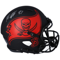 Rob Gronkowski Signed Buccaneers Full-Size Authentic On-Field Eclipse Alternate Speed Helmet (Fanatics Hologram) at PristineAuction.com