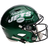 "Sam Darnold Signed Jets Full-Size Authentic On-Field SpeedFlex Helmet Inscribed ""J-E-T-S"" (Fanatics Hologram) at PristineAuction.com"