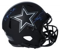 Dak Prescott & CeeDee Lamb Signed Cowboys Full-Size Authentic On-Field Eclipse Alternate Speed Helmet (Fanatics Hologram) at PristineAuction.com