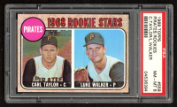 Carl Taylor RC / Luke Walker 1968 Topps #559 Rookie Stars (PSA 8) at PristineAuction.com