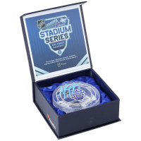 Anze Kopitar Signed 2020 Stadium Series Game-Used Ice Crystal Puck (Fanatics Hologram) at PristineAuction.com