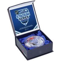 Philipp Grubauer Signed 2020 Stadium Series Game-Used Ice Crystal Puck (Fanatics Hologram) at PristineAuction.com