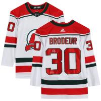 """Martin Brodeur Signed Devils Jersey Inscribed """"HOF 2018"""" (Fanatics Hologram) at PristineAuction.com"""