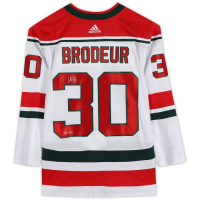 "Martin Brodeur Signed Devils Jersey Inscribed ""HOF 2018"" (Fanatics Hologram) at PristineAuction.com"