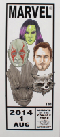 "Tom Hodges - Guardians of the Galaxy - Marvel Comics - ""Corner Box"" - ORIGINAL 7.5"" x 17"" Drawing on Paper (1/1) at PristineAuction.com"