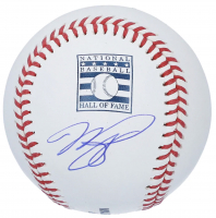 Mike Piazza Signed OML Hall Of Fame Logo Baseball (Fanatics Hologram) at PristineAuction.com