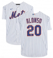 "Pete Alonso Signed Mets Jersey Inscribed ""2019 NL ROY"" (Fanatics Hologram) at PristineAuction.com"