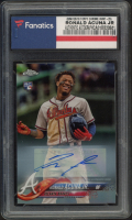 Ronald Acuna Jr. 2018 Topps Chrome Update Autograph Refractors #HMT25 (Fanatics Encapsulated) at PristineAuction.com