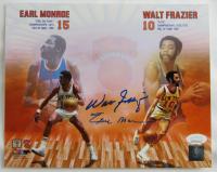 Walt Frazier & Earl Monroe Signed Knicks 8x10 Photo (JSA COA) at PristineAuction.com
