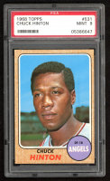 Chuck Hinton 1968 Topps #531 (PSA 9) at PristineAuction.com