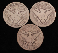Lot of (3) Barber Silver Half Dollars with 1900, 1909-S & 1912 at PristineAuction.com