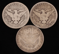 Lot of (3) Barber Silver Half Dollars with 1907, 1910-S & 1912-S at PristineAuction.com