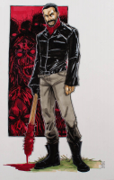"""Tom Hodges - Negan - """"The Walking Dead"""" - Signed ORIGINAL 11"""" x 17"""" Drawing on Paper (1/1) at PristineAuction.com"""