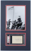 "John Bradley Signed 12x20 Custom Matted Cut Display Inscribed ""PH M4C"" (PSA Encapsulated) at PristineAuction.com"
