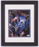 Mike Tyson Signed 13.5x16.5 Custom Framed Photo Display (PSA COA) at PristineAuction.com