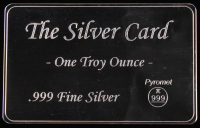 "1 Troy Ounce .999 Fine Silver ""The Silver Card"" Bullion at PristineAuction.com"