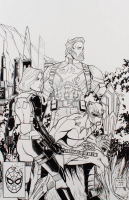 "Tom Hodges - ""Avengers: Infinity War"" - X-Men / Jim Lee Homage - ORIGINAL 11"" x 17"" Drawing on Paper (1/1) at PristineAuction.com"