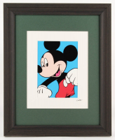 "Walt Disney's ""Mickey Mouse"" 13.5x16.5 Custom Framed Hand-Painted Animation Serigraph Display at PristineAuction.com"