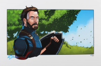 "Tom Hodges - Captain America - Marvel Comics - Signed 11"" x 17"" Print LE #/25 (PA COA) (See Description) at PristineAuction.com"