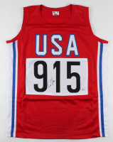 Carl Lewis Signed Jersey (Beckett COA) at PristineAuction.com