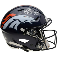 "Peyton Manning Signed Broncos Full-Size Authentic On-Field SpeedFlex Helmet Inscribed ""SB 50 Champs"" (Fanatics Hologram) at PristineAuction.com"