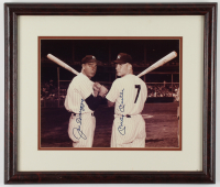 Mickey Mantle & Joe DiMaggio Signed Yankees 17x21 Custom Framed Photo Display (JSA ALOA) at PristineAuction.com