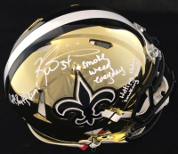 """Ricky Williams Signed Saints Full-Size Authentic Chrome Speed Inscribed """"Smoke Weed Everyday!"""", """"Hitting Holes Smoking Bowls"""" & """"Puff Puff Run"""" (JSA COA) at PristineAuction.com"""
