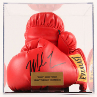 Mike Tyson Signed Everlast Boxing Gloves with Display Case (PSA COA) at PristineAuction.com